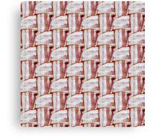 Bacon Weave Canvas Print