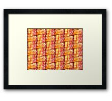 Cooked Bacon Weave Pattern Framed Print
