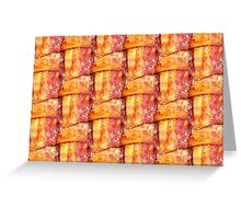Cooked Bacon Weave Pattern Greeting Card