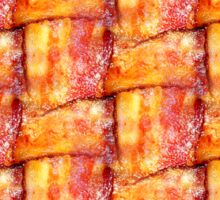 Cooked Bacon Weave Pattern Sticker