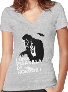 Una Pesadilla de Horror! Women's Fitted V-Neck T-Shirt
