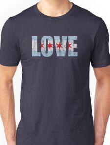 Vintage Love Chicago Flag Unisex T-Shirt