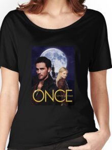 Once upon a time, OUAT, OUAT swan hook, Emma and Killian, Swan and hook, OUAT moon ship Women's Relaxed Fit T-Shirt