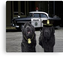 "☞ º°""˜`""°☜♥☞ BAD BOYS TAKEN FROM THEME SONG-POLICE DOGS THROW PILLOW ☞ º°""˜`""°☜♥☞ Canvas Print"