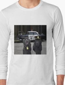 "☞ º°""˜`""°☜♥☞ BAD BOYS TAKEN FROM THEME SONG-POLICE DOGS THROW PILLOW ☞ º°""˜`""°☜♥☞ Long Sleeve T-Shirt"