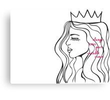 Invisible Crown Canvas Print