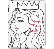 Invisible Crown iPad Case/Skin