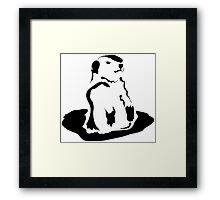 groundhog Framed Print