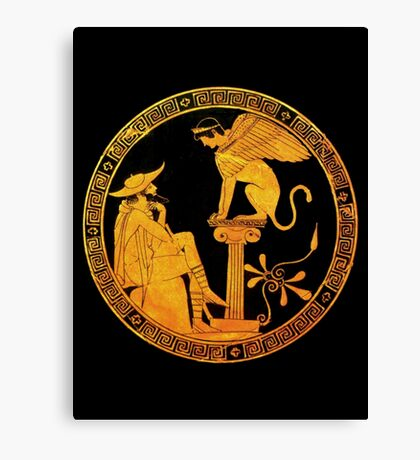 Oedipus and the Sphinx  Canvas Print