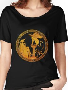 Oedipus and the Sphinx  Women's Relaxed Fit T-Shirt