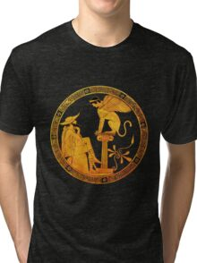 Oedipus and the Sphinx  Tri-blend T-Shirt