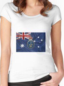 Royal Australian Navy - RAN Badge over Australian Flag Women's Fitted Scoop T-Shirt