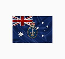 Royal Australian Navy - RAN Badge over Australian Flag Unisex T-Shirt