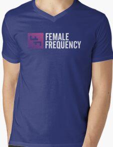 Female Frequency Mens V-Neck T-Shirt