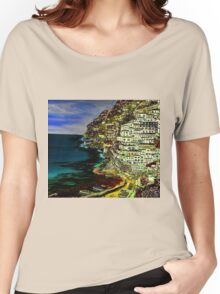 Positano at night. Women's Relaxed Fit T-Shirt