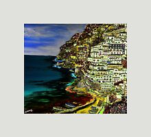 Positano at night. Womens Fitted T-Shirt