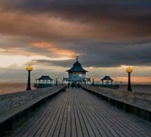 Sunset Pier Sticker