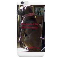 Protected by K9 Security iPhone Case/Skin