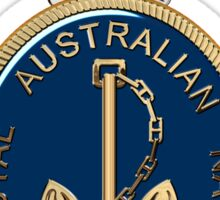 Royal Australian Navy - RAN Badge over Blue Velvet Sticker