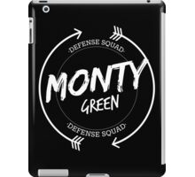 MONTY GREEN DEFENSE SQUAD iPad Case/Skin