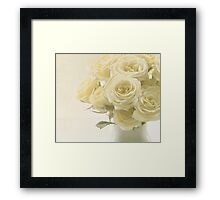 Whispers of Chiffon - Roses Framed Print