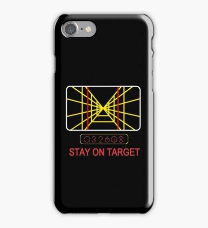 Stay On Target Use the Force iPhone Case/Skin