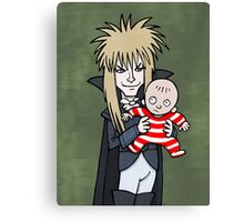 The Goblin King with Toby cartoon Canvas Print