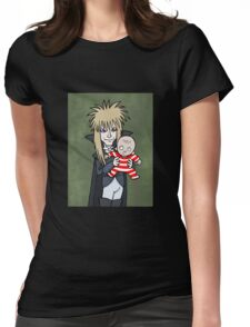 The Goblin King with Toby cartoon Womens Fitted T-Shirt
