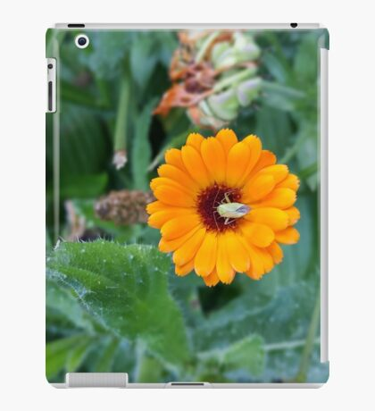 Yellow Flower Green Insect iPad Case/Skin