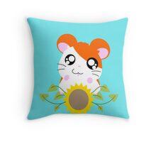 Hamtaro // Sunflower Throw Pillow