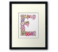 Floral Letter E Framed Print
