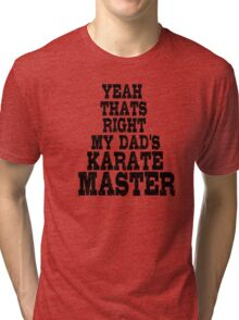 Karate Master Fighter Dad Tri-blend T-Shirt