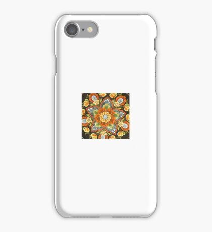 Folk Art Scandinavian Star Shine Yellow RoseMaling Duvet Cover Material Fabric Kirsten iPhone Case/Skin