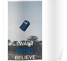 i want WHO believe Poster