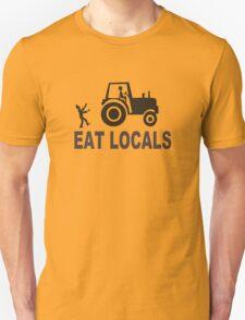 Eat Locals Zombies funny nerd geek geeky T-Shirt