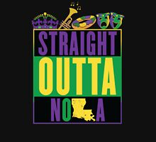 Straight Outta NOLA (Mardi Gras Version) Women's Fitted V-Neck T-Shirt