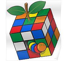 Rubik's apple Poster
