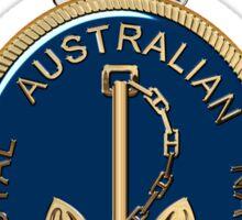 Royal Australian Navy - RAN Badge over Red Velvet Sticker