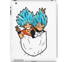 Goku and Vegeta god pocket. iPad Case/Skin