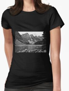 Moraine Lake in Black and White T-Shirt