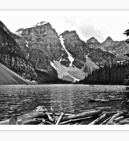 Moraine Lake in Black and White Sticker