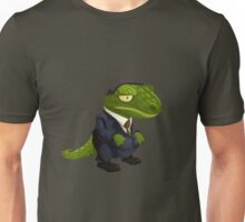 Funny Lizard in a Business Suit Unisex T-Shirt
