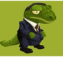 Funny Lizard in a Business Suit Photographic Print