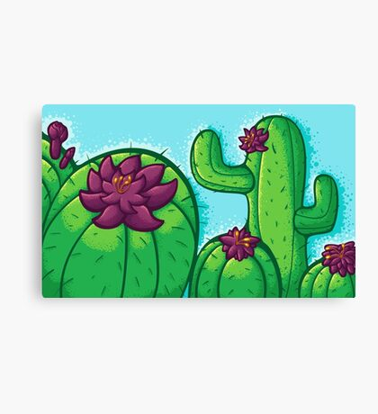 Cactus Flower Canvas Print