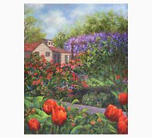 Garden with Tulips and Wisteria Unisex T-Shirt