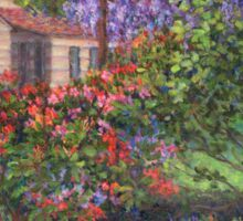 Garden with Tulips and Wisteria Sticker
