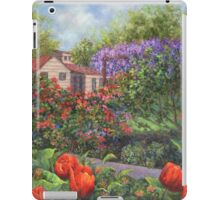 Garden with Tulips and Wisteria iPad Case/Skin
