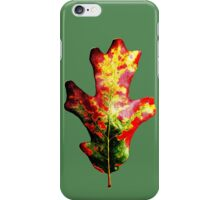 Colorful Autumn Oak Leaf iPhone Case/Skin