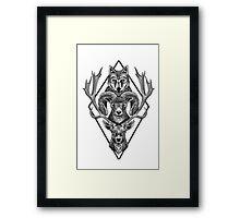 Wolfram Hart (B&W) Framed Print