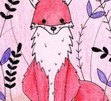 Beautiful Fox in the Garden Sticker